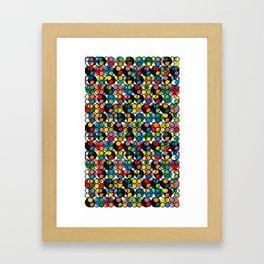 POP - Circles Framed Art Print