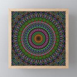 Hypnotic Church Window Mandala Framed Mini Art Print