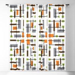Mid Century Modern Geometric Pattern Blackout Curtain