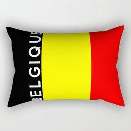 belgium country flag belgique name text Rectangular Pillow