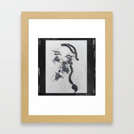 Lowbrow Misfit Channeling Inner Demonds  Framed Art Print