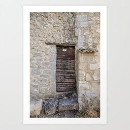 Travel Impressions Old Door In South Of France Art Print