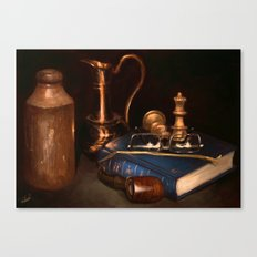 Still life with pipe Canvas Print
