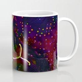 Red flower on dark sky Coffee Mug