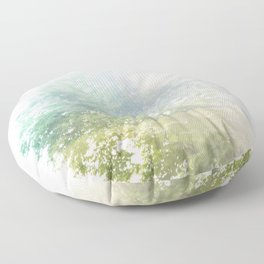 Where the sea sings to the trees - 9 Floor Pillow