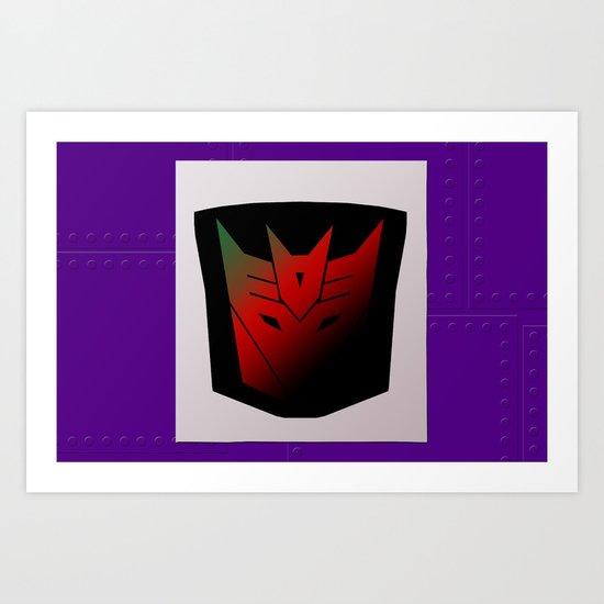 Transformers Generation 1: Rub Sign: Decepticon! Art Print