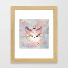 Stargazer Cat : Vision Seeker Framed Art Print