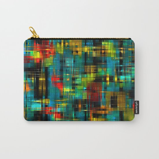 Art splash brush strokes paint abstract seamless pattern print background Carry-All Pouch