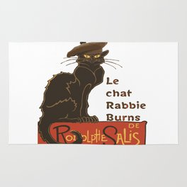 Le Chat Rabbie Burns With Tam OShanter Rug