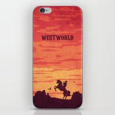 Westworld Vintage Alternative Poster iPhone & iPod Skin