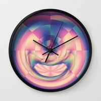 apple Wall Clocks featuring Apple by Truly Juel