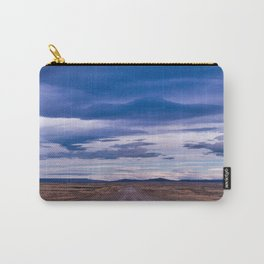 Wind and empty roads in Patagonia. Carry-All Pouch