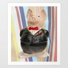 Nat West Piggy Ceramic Art Print