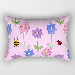 Pink Nature Rectangular Pillow
