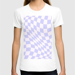 Warped Check - Periwinkle  T-shirt