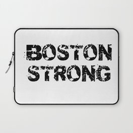 Support BOSTON STRONG Black Grunge Laptop Sleeve