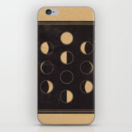 Lunar Phase Chart Imagery iPhone Skin
