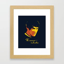 The Moment in Freedom - BruceLee quote Framed Art Print