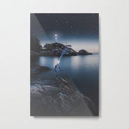 Light Beams Metal Print