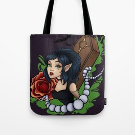 Goth elf Rose pearls Tote Bag