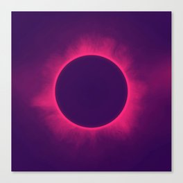 Solar Eclipse in Hipster Colors Canvas Print