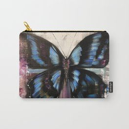 Abstract blue butterfly. Morpho Menelaus. Macro picture with big butterfly. Carry-All Pouch