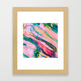 Bright and happy marble design Framed Art Print