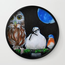 Wisdom Peace and Happiness Wall Clock