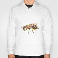 bee Hoodies featuring Bee by Elena Sandovici