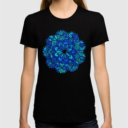 Mandala Iridescent Blue Green T-shirt