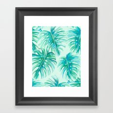 Paradise Palms Mint Framed Art Print