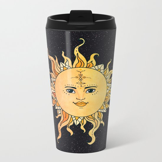 sun flower Metal Travel Mug