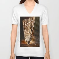 moth V-neck T-shirts featuring Moth by Unfocussed