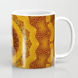 Bright Gold and Brown Mandala Coffee Mug