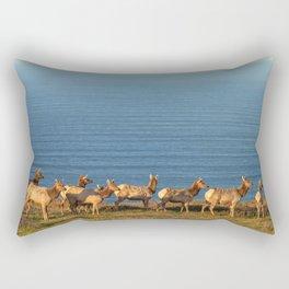 Tule Elk Cows Rectangular Pillow