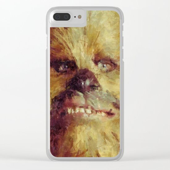 Chewbacca Starwars Character Illustration Clear iPhone Case