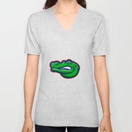 Alligator Head Mascot Unisex V-Neck