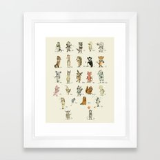 Animal Alphabet, English Framed Art Print
