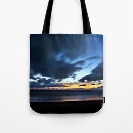 Nocturnal Cloud Spectacle on Danish Sky Tote Bag
