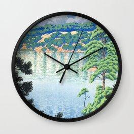 Kawase Hasui - View On Karasunuma, Akita - Vintage Japanese Woodblock Print Art Wall Clock