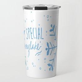 Special Snowflake (Blue) Travel Mug