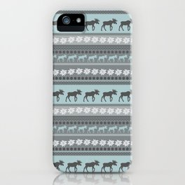 Moose Pattern iPhone Case