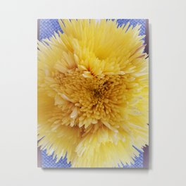 Yellow Flower Sunburst Metal Print
