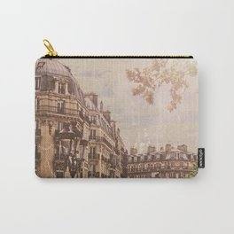 Vintage Paris Architectural Street Scene Carry-All Pouch
