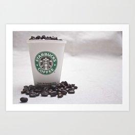 Starbucks Coffee Beans Art Print