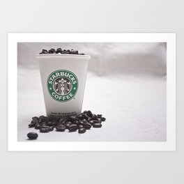 Starbucks Coffee Beans Art Print