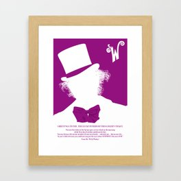 Willy Wonka Tribute Poster Framed Art Print