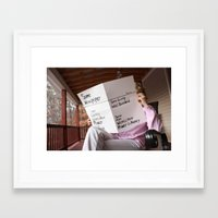 newspaper Framed Art Prints featuring Newspaper by Mangodelight