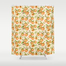 Amazing Practice What You Peach   Peach Pattern Shower Curtain