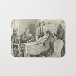 Vintage Illustration of the Declaration Committee Bath Mat